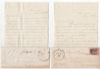 Two letters from a female Confederate sympathizer in Pennsylvania to her aunt in New York City....