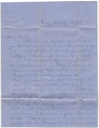 Schoolteacher's letter describing a young slave's attack upon three children in her classroom.