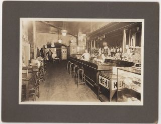 Photograph showing the inside of rural Illinois tavern. Unknown photographer