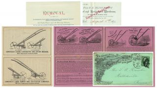 Letterhead, brochures, and illustrated advertising envelope for B. K. Bliss Seed & Horticultural...