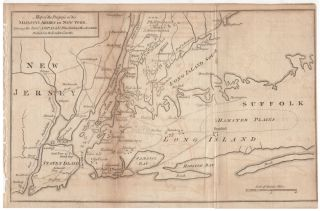 Map of the Progress of His Majesty's Armies in New York, During the Late Campaign Illustrating the Accounts Published in the London Gazette. Anonymous.