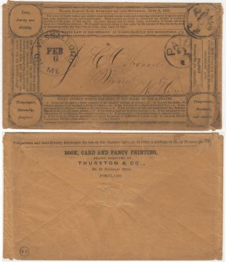 LETTER FROM ONE QUAKER TO ANOTHER BEMOANING THE EFFECT OF THE CALIFORNIA GOLD RUSH UPON THE MEN OF HIS COMMUNITY; Three-page letter, sent in a stampless temperance envelope, from one Quaker to another bemoaning the fact that some many men are departing for the gold fields of California