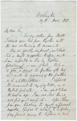 A letter suggesting uniform improvements from a famous U.S. Navy explorer after his return to...