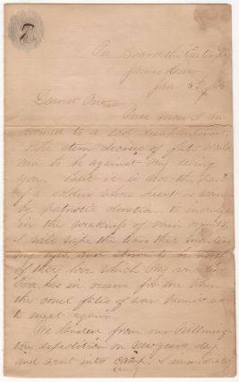 A LOVE LETTER FROM A WHITE OFFICER ASSIGNED TO THE ALL-AFRICAN-AMERICAN 25TH CORPS AS IT SAILED...