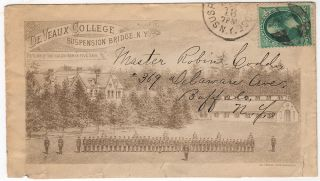 Advertising envelope for the De Veaux College for Orphans and Destitute Children