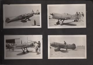 Photograph album showing aircraft, students, and facilities at the Curtiss-Wright Technical...