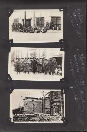 Photograph Album from a member of the 31st Infantry Regiment documenting his service protecting the International Settlement during the Shanghai War of 1932 between China and Japan