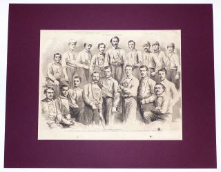 Brooklyn Atlantics and Philadelphia Athletics team portraits for the 1866 World Series