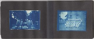 Small album with 39 cyanotypes and photographs including at least nine of the Connecticut State Reform School for Boys