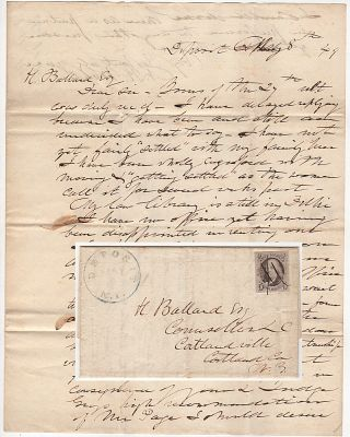 Folded letter from by an important New York jurist—who had tried and sentenced many men during...