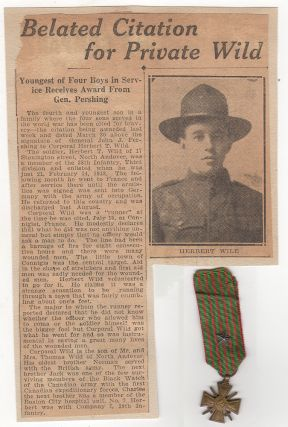 Small archive regarding a heroic young 3rd Infantry Division soldier including a gruesome description of hand-to-hand fighting in the two most important turning-point battles of World War One