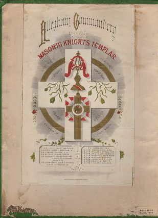 "Scrapbook documenting a ""pilgrimage"" of the Allegheny Commandery of the Masonic Knights Templar to Ireland, Scotland, England, Holland, Belgium, the Rhine, Switzerland, Italy, and the Paris Exposition"
