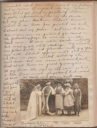 "Teenage girl's memory-photo album, ""The Real Diary of a Real Girl"" Gertrude Josephine Robinson."