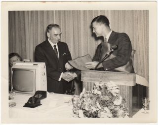 Small archive (including photographs of Admiral Hyman Rickover) pertaining to a technician, E. F. King, who worked at the U.S. Navy Underwater Sound Laboratory