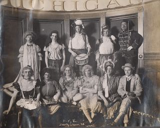 "Photo album document a University of Michigan student ""County Fair."""