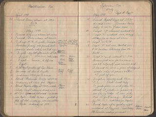 A Chief Quartermaster's daily diary documenting his minesweeper's role in the World War Two amphibious landings at Anzio and Southern France