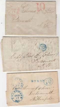 Five-decade archive of letters and documents pertaining to the shipping business of Captain Thomas E. Oliver of Portsmouth-New Castle, New Hampshire