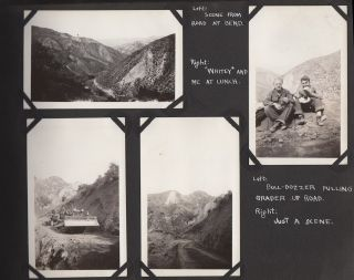 Photograph album documenting life at two different Civilian Conservation Corps Camps