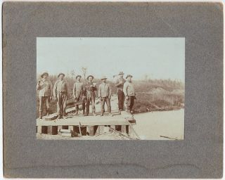 Occupational cabinet card photographs of Wisconsin lumbermen. photographer L. L. Richardson