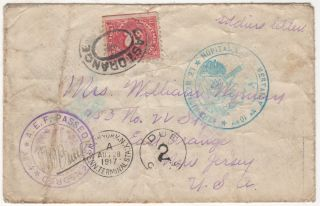Early World War One American Expeditionary Force (A.E.F.) mail sent while during a reconnaissance...