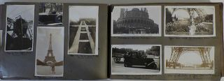 """Memory book kept by a World War One veteran documenting """"The Second A. E. F. 1927,"""" the American Legion's ninth annual convention held in Paris, France"""