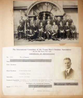 Memory book assembled by one of the first U.S. YMCA workers to deploy during World War One who later received a commission in the Army and after the Armistice served as a missionary in North Dakota. Richard G. Preston.