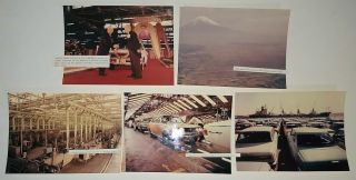 Collection of photographs documenting an early U. S. Toyota dealer's trip to Japan to be part of the celebration recognizing the five millionth car to roll off the company's assembly line.