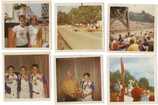 Photographic archive documenting a teenager's two-year Soap Box Derby competition career to include participation in the national All-American Soap Box Derby finals at Akron, Ohio. David Brenstuhl and family.