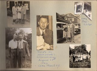 Photograph album documenting the family life of a Jewish man including his immigration into the United States as anti-Semitism reached a crescendo in Nazi Germany