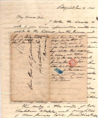 Letter to Thomas H. Gallaudet requesting that he arrange for the residential treatment of a...