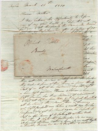 Letter from a U. S. mariner held captive in Naples after his ship was captured and condemned...