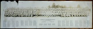 World War II panoramic photograph of Company G, 9th Colored Quartermaster Training Regiment