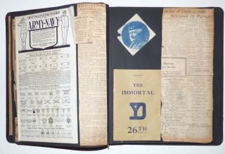 An exceptional two-volume scrapbook set documenting a YMCA worker's experience supporting the 26th (Yankee) Division during World War I