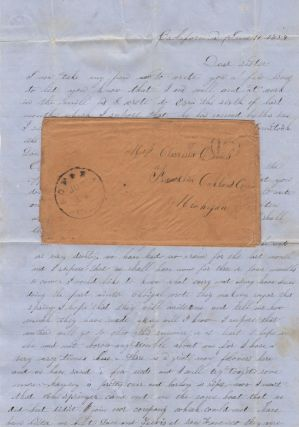 Gold Rush era letter from a miller and farmer living at Sonora, California to family in Michigan