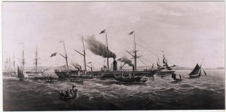 Letter sent from Liverpool, England to New York City via an early voyage of the S. S. Great Western