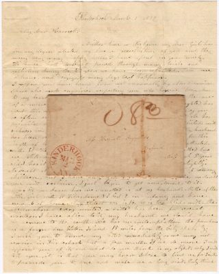 Affectionate friendship letter from a rural New York woman to a dear childhood friend in eastern Massachusetts whom she has not seen in 25 years describing her family's health woes. From Sarah M. Menton to Harriet Reynolds.