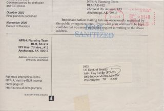 Mail sanitized during the response to 2001 anthrax attacks that killed five people and infected 17 others