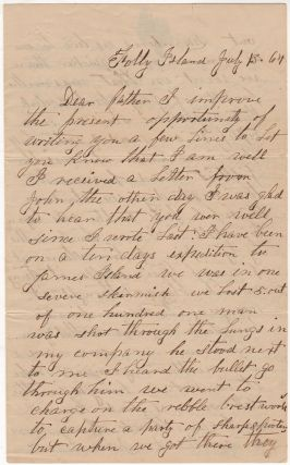 Union soldier's detailed Civil War letter describing combat during the Battle of Bloody Bridge...