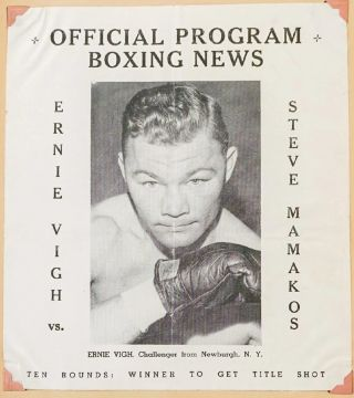 Photograph Album-Scrapbook for an almost-big-time middle-weight fighter, Ernie Vigh, who really...