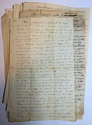 Group of 13 indentures binding poor children to masters who were citizens of Reading, Massachusetts