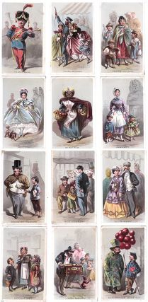 "Chromolithograph Album Card Set, ""Street Scenes in New York"" Louis Prang"