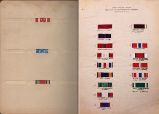 An archive related to the legendary dean of American heraldry and the founder of the U.S. Institute of Heraldry, Arthur E. DuBois, including his unfinished monumental work on military ribbons of the world