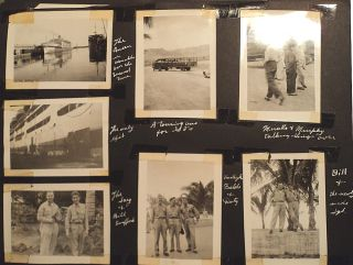 Photograph album documenting service on the World War II Hospital Ship, USAHS Louis A. Milne