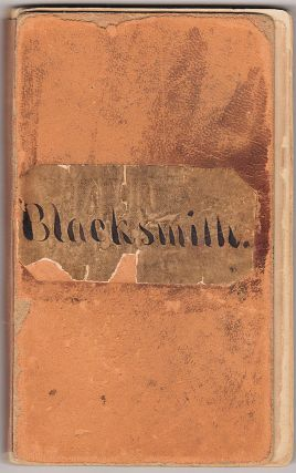 A seven-year account book, titled Blacksmith, identifying the materials purchased from and...