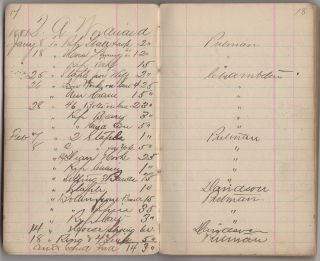 A seven-year account book, titled Blacksmith, identifying the materials purchased from and services provided by nine New Hampshire blacksmiths, wheelwrights, and carriage dealers