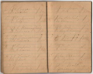 Civil War account book kept by a sutler traveling with the 94th Illinois Infantry Regiment