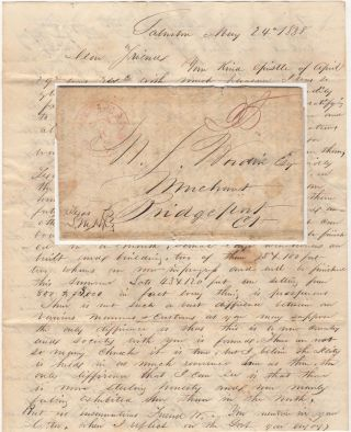 Terrific early Galveston letter by one of its founders , a former officer in the Texas Navy,...