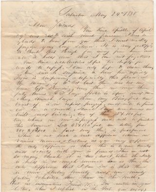 Terrific early Galveston letter by one of its founders , a former officer in the Texas Navy, defending the Republic against spurious comments made by a childhood friend in Connecticut