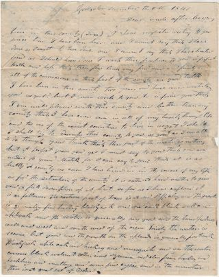 Letter describing Texas from the birthplace of the Texas Revolution as it was finally being resettled following its total destruction in 1836