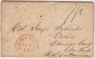 A lively letter from Houston to New York that with considerable information about an average Texan's concern that President Sam Houston was preparing to turn traitor and sell out the Republic to British and Mexican interests